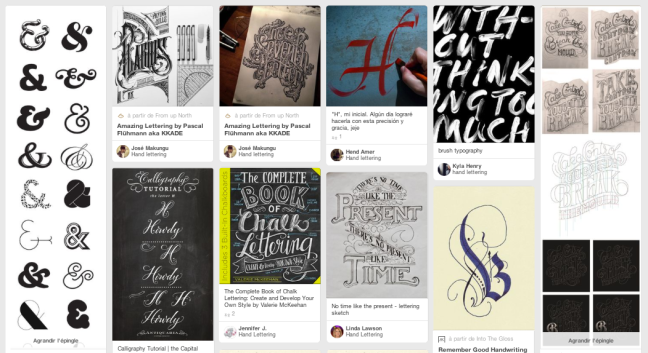 La Calligraphie sur des tableaux Pinterest